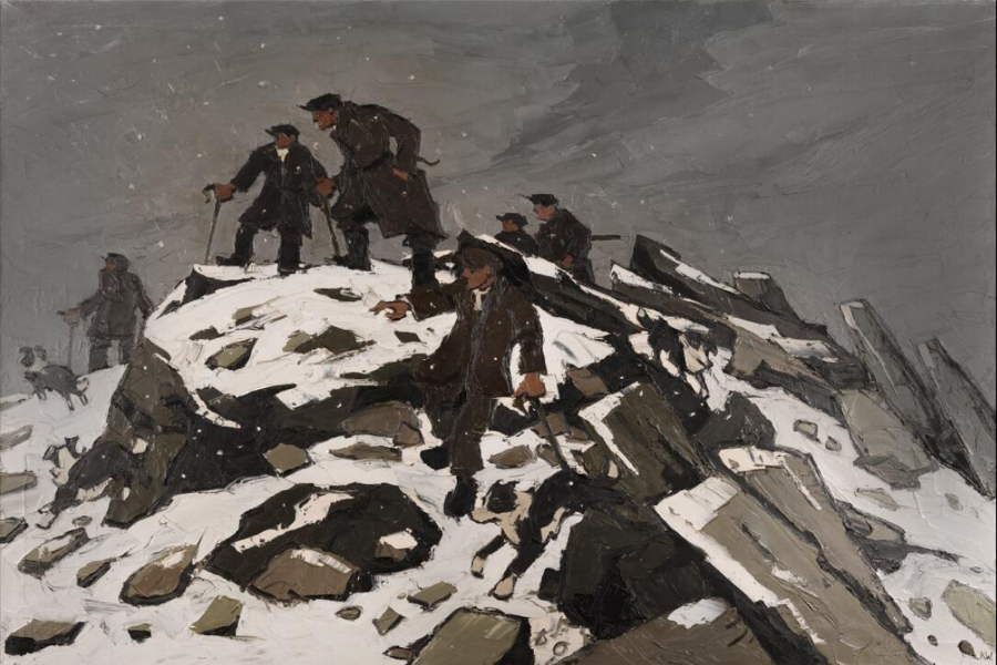 Kyffin Williams The Gathering Farmers on Glyder Fach